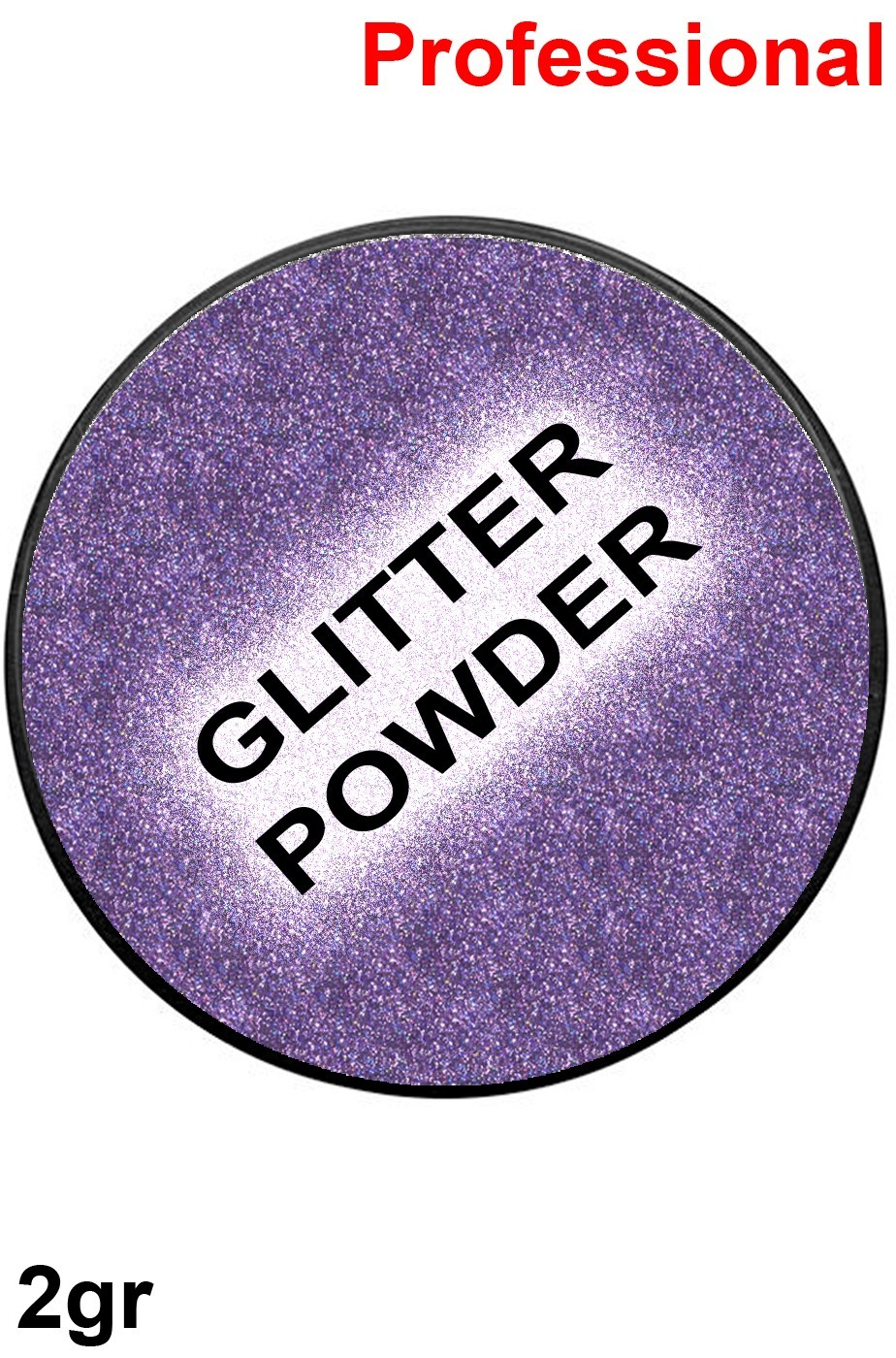 Trucco cialda effetto glitter viola 2gr