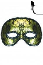 maschera carnevale stile veneziano mezzo viso oro