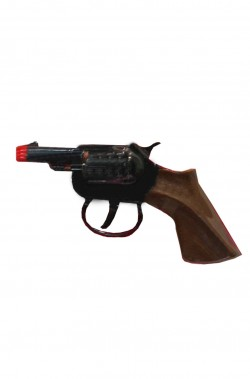 Pistola mini revolver giocattolo Detective In Metallo