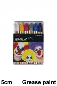 Trucco di carnevale scatola di matite colorate