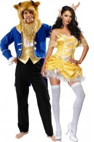 Coppia di costumi adulto La Bella e la Bestia dal film Disney
