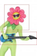 Copricapo fiore e chitarra gonfiabile no tuta