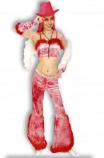 Costume donna Cowgirl con gambiere rosa
