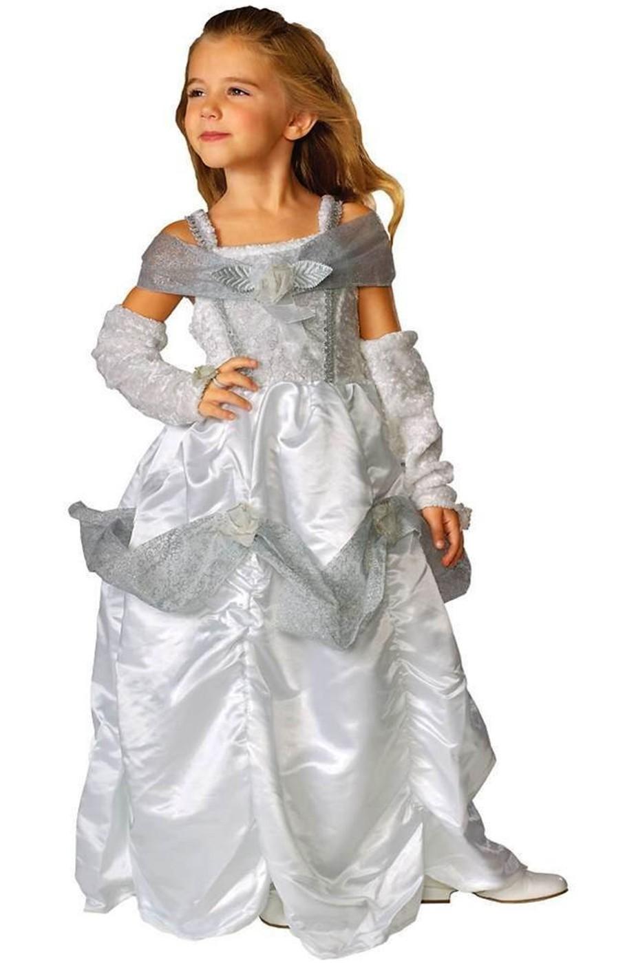 Costume carnevale Bambina Principessa bianca