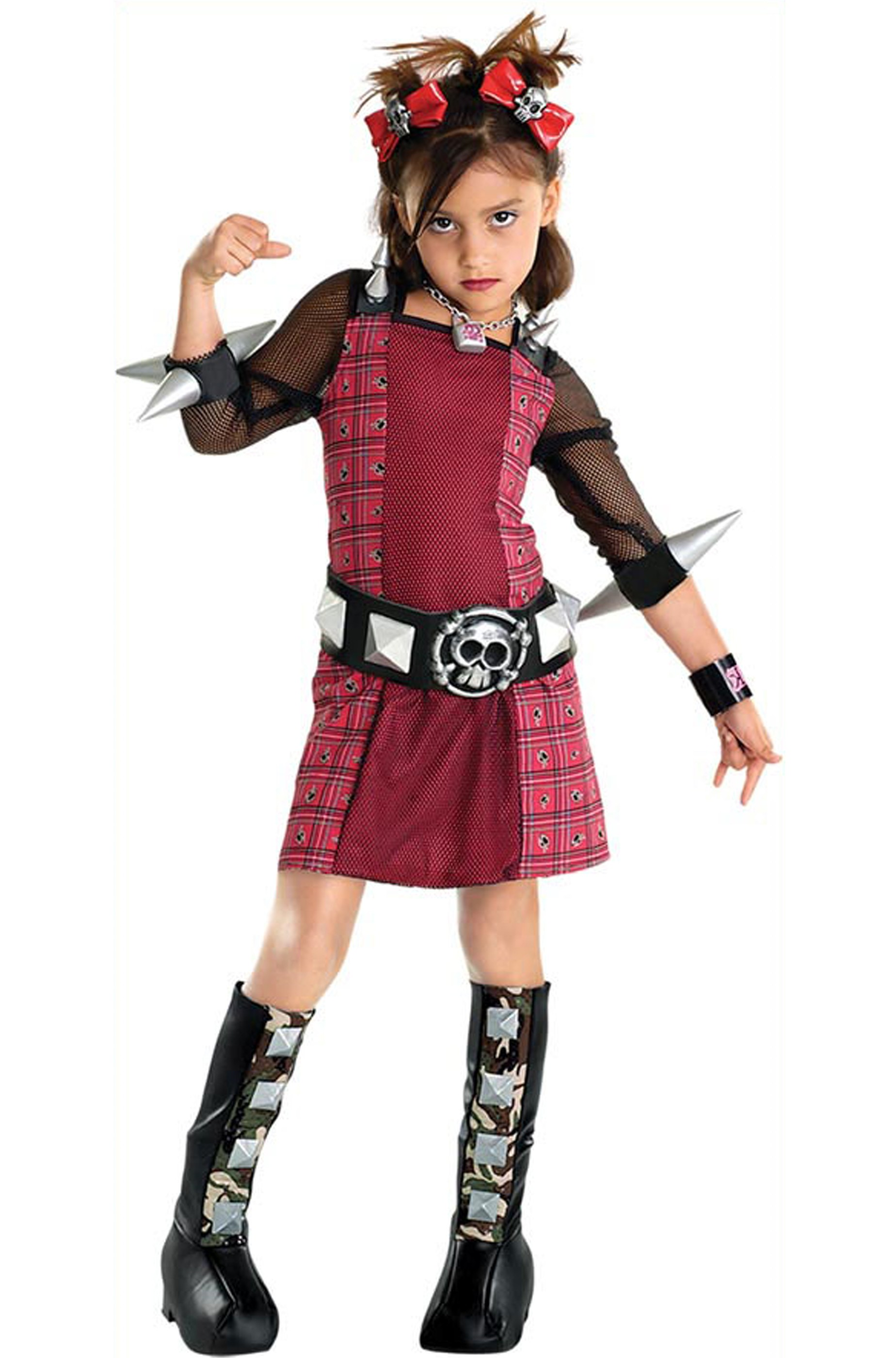 huge selection of 6b30d 99f1f Costume carnevale Bambina Ragazza Punk