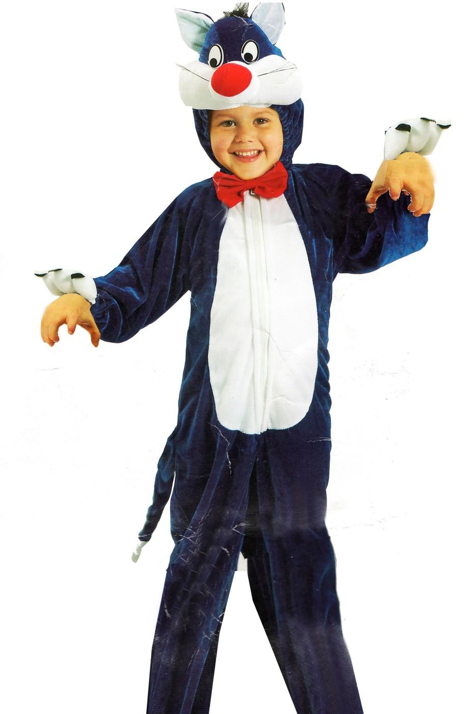 3956c04bdc26 vestito di carnevale da gattone per bambini di età 2/3 anni
