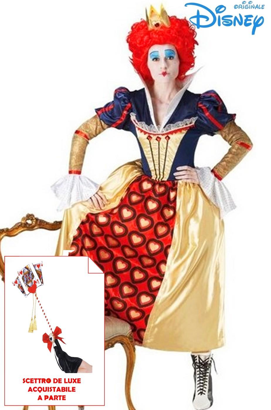 5ecc51be086d Costume Regina Di Cuori Originale Disney Dal Film Il Cappellaio Matto
