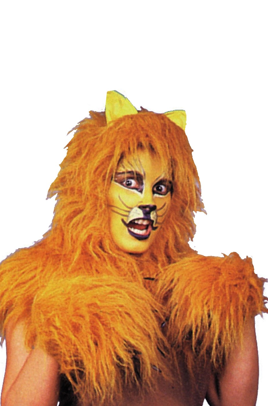 Set travestimento da felino parrucca e polsini