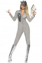 Costume tuta seconda pelle skin Robot Borg donna