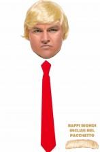 Pacchetto parrucca di Donald Trump e finta cravatta rossa