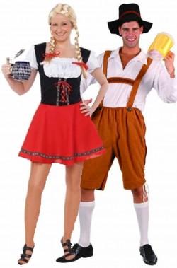 Coppia di costumi tirolesi bavaresi oktoberfest