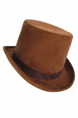 Cappello Cilindro Steampunk Marrone