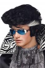 Parrucca uomo nera corta Grease, Elvis Anni 50