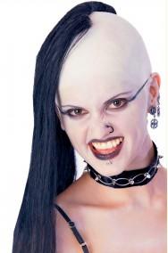 Parrucca unisex nera Punk