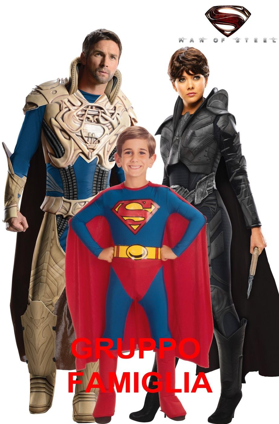 Gruppo Di Costumi Di Carnevale Per Famiglia Superman Man Of Steel