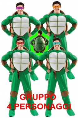 Gruppo di costumi 4 Ninja Turtles