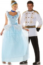 Coppia di Costumi Cenerentola e Principe Azzurro
