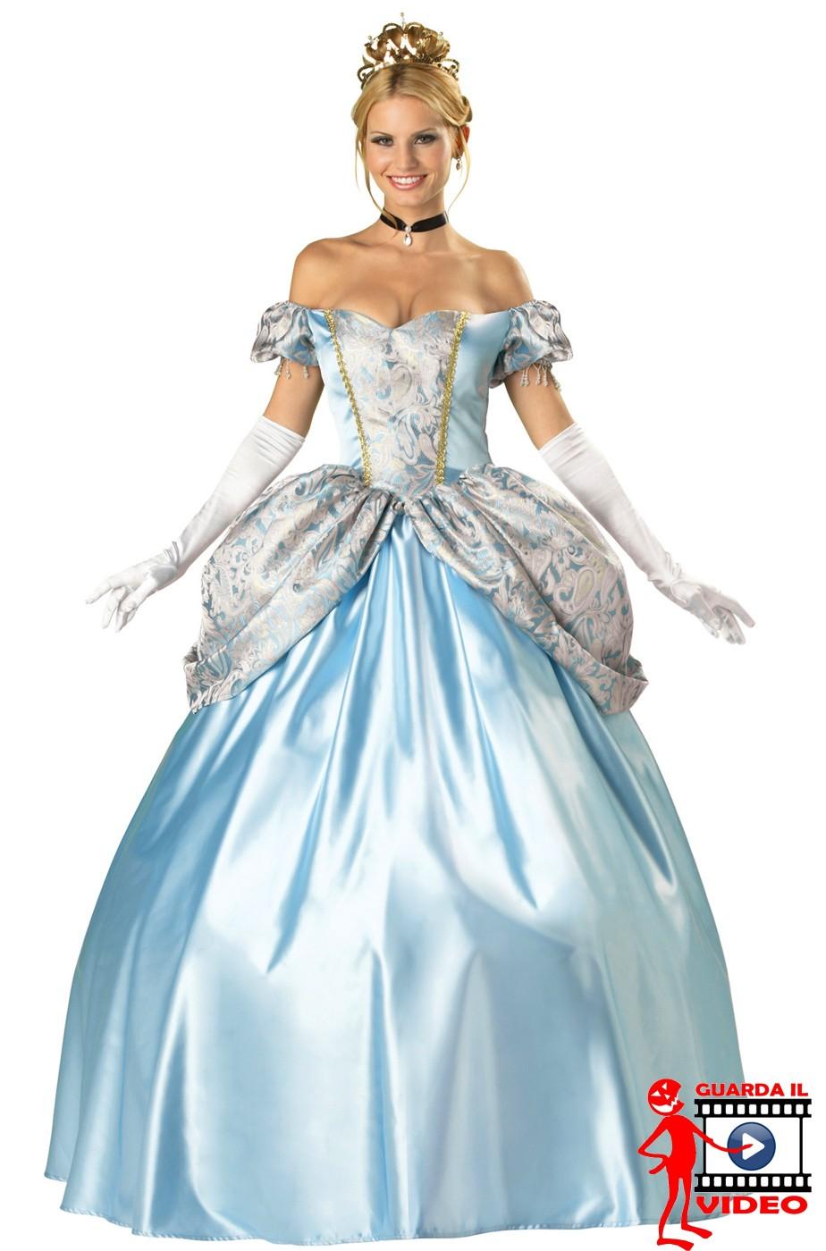 Abito  Principessa Azzurra. Meraviglioso e fiabesco.