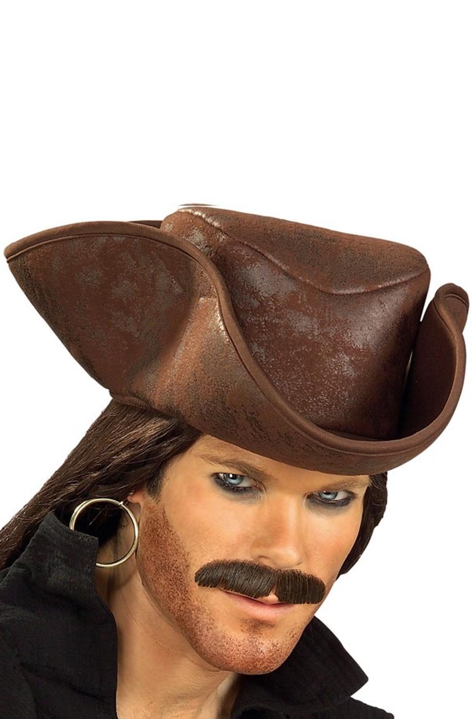 Cappello da Pirata a Tricorno tipo Capitan Sparrow
