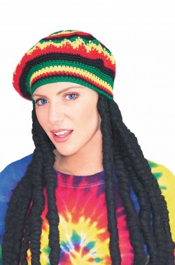 Parrucca Rasta con Cappello