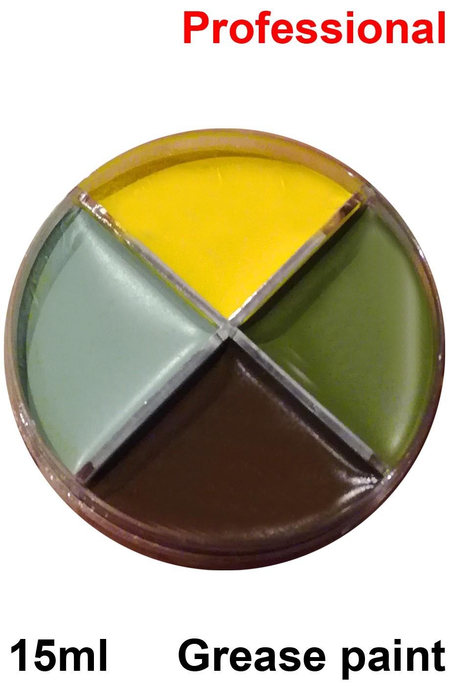 Trucco teatrale palette in cialda grease 4 colori finissage carne 15gr