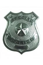 Distintivo Poliziotto in metallo con spilla