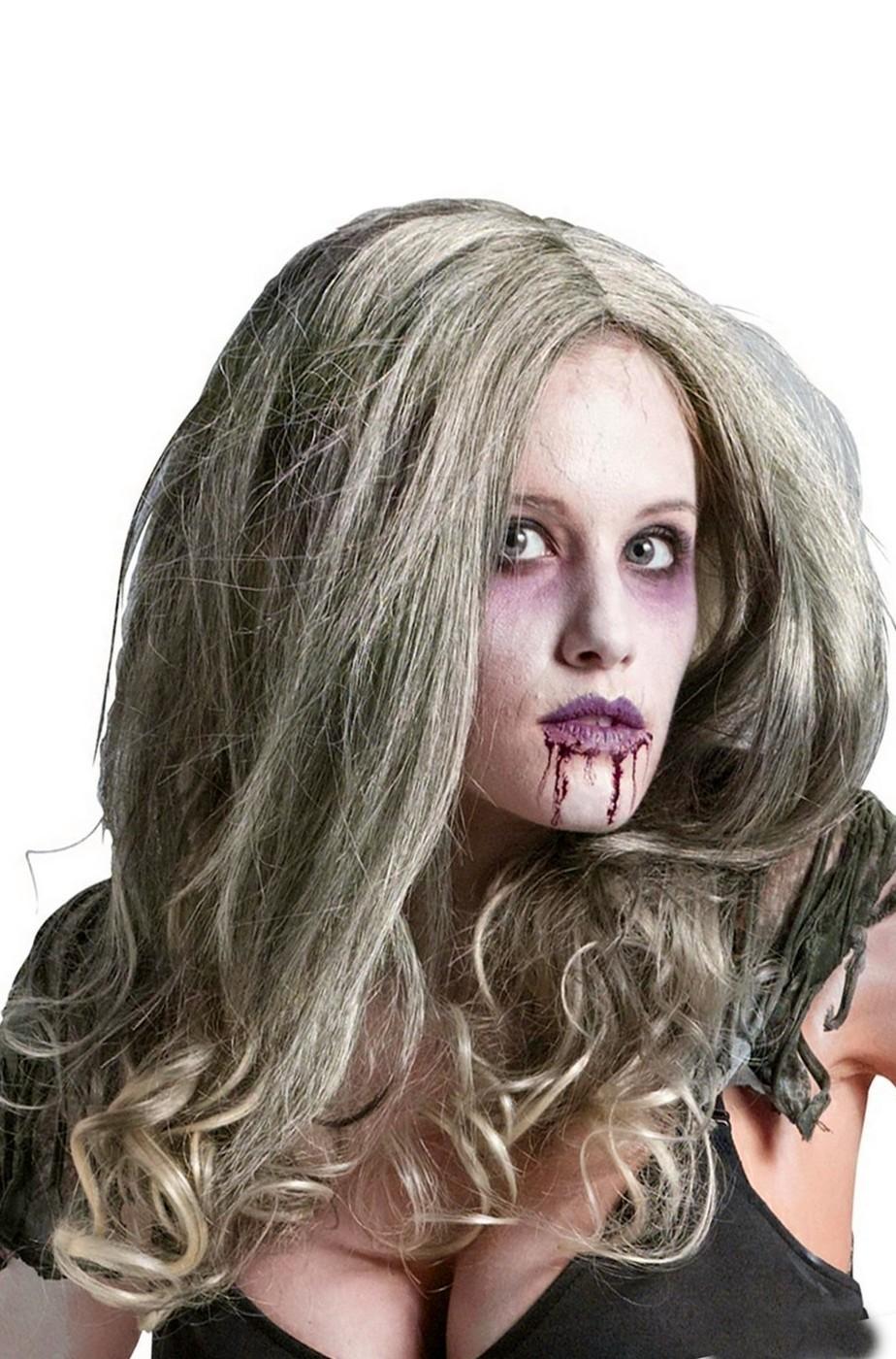 Parrucca Donna Lunga Zombie Halloween