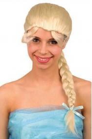Parrucca donna bionda liscia con treccia