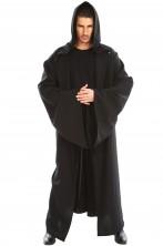 Tunica nera medievale con grandi maniche 180cm