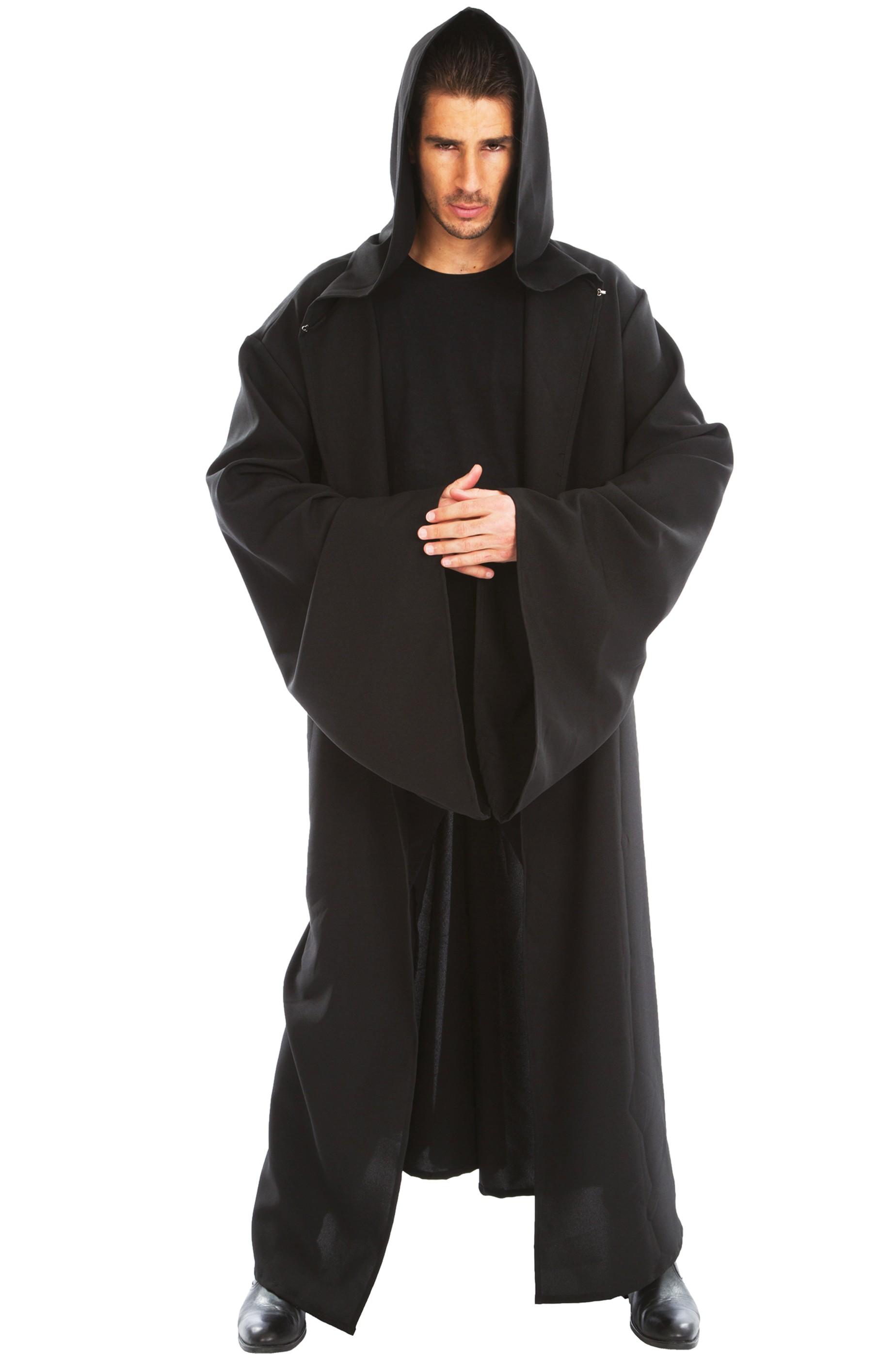 cheap for discount ef7de 7accf Tunica nera medievale con grandi maniche 180cm
