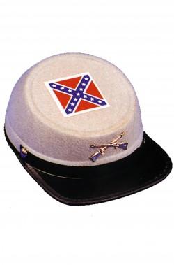 Cappello soldato sudista in tessuto floccato adulto