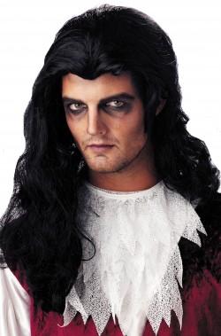 Parrucca unisex nera lunga vampiro emo