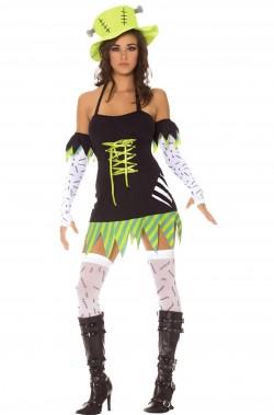 Costume Frankenstein piccolo mostro donna