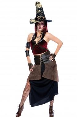 Costume da Strega donna steampunk