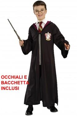 Costume Harry Potter Bambino tunica, occhiali e bacchetta