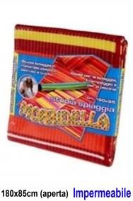 Stuoia in paglia di plastica 180x85cm impermeabile colore rosso o azzurro