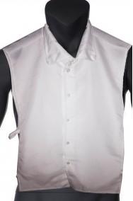 Finta camicia bianca a gilet senza maniche