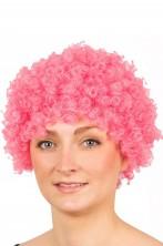 Parrucca afro clown anni 70 riccia rosa
