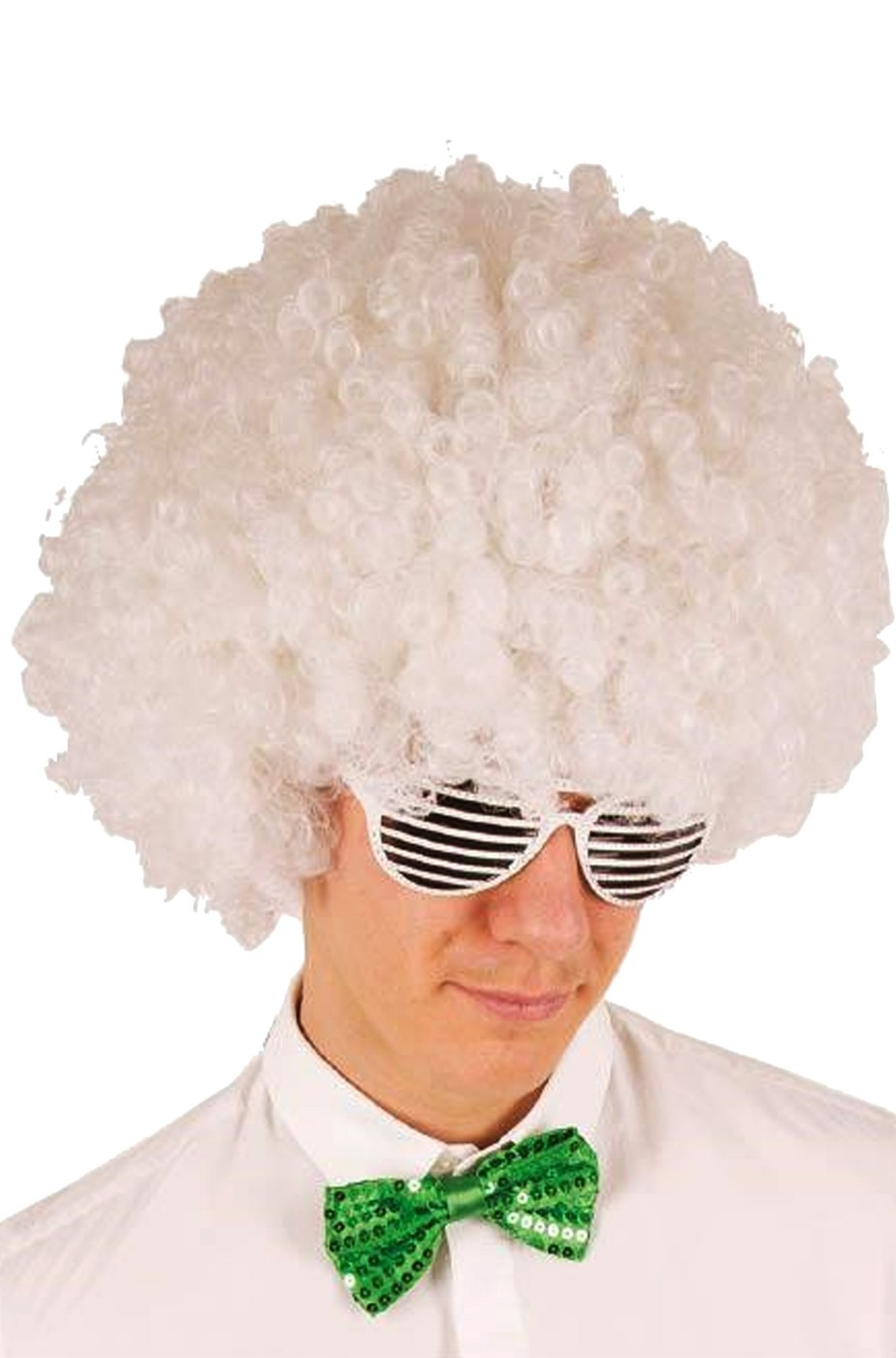 Parrucca afro bianca riccia anni 70