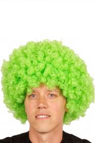 Parrucca afro verde riccia anni 70