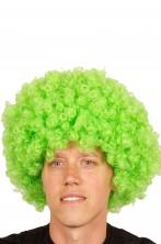Parrucca afro verde riccia corta anni 70 grande