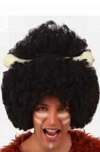 Parrucca nera riccia folta aborigeno