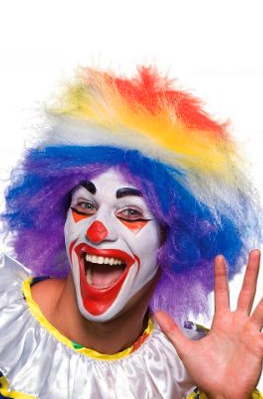 Parrucca unisex corta colorata clown