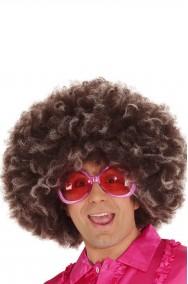 Parrucca maxi anni 70 marrone