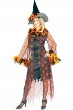Costume donna strega piumata