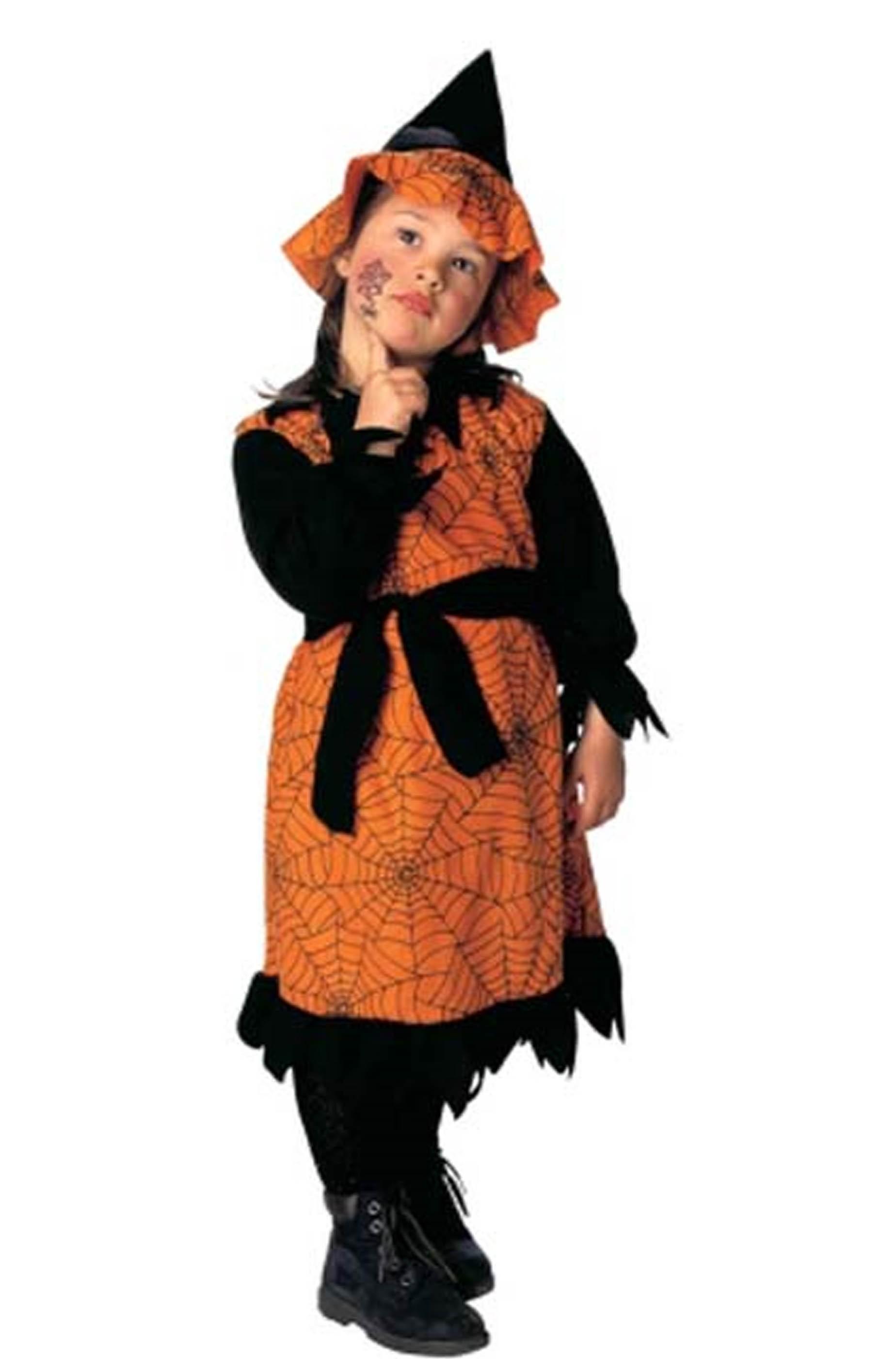 costume di halloween o carnevale bambina strega nera e arancione lungo dea64fb2e03e