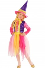 Costume carnevale Bambina Strega mille colori