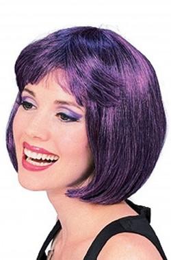 Parrucca donna corta viola a caschetto