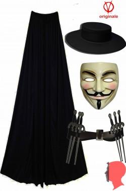 Kit travestimento V per vendetta Anonymous