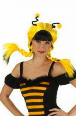 Parrucca donna gialla e nera corta ape